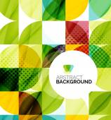 Circle geometric abstract background — Vector de stock