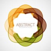 Symmetric abstract geometric shape — Stock vektor