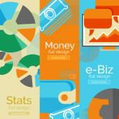 Money, business, e-commerce concepts — Stock Vector