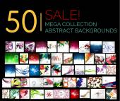 Large mega set of abstract backgrounds, sale — Stock Vector