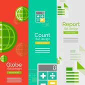 Set of flat design universal business concepts — Stock Vector