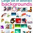 Large mega set of abstract backgrounds, sale — Stock Vector #55234013