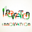 Постер, плакат: Innovation word concept