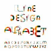 Minimal line design alphabet, font, typeface — Stockvektor