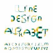 Minimal line design alphabet, font, typeface — Stock Vector