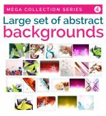 Mega set of abstract backgrounds — Stock Vector