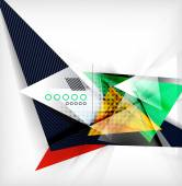 Color triangles, unusual abstract background — Stock Vector