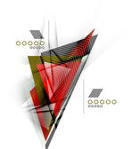 Color triangles, unusual abstract background — Wektor stockowy