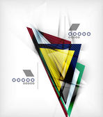 Color triangles, unusual abstract background — Stok Vektör