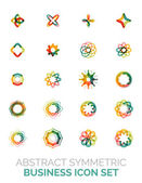 Abstract symmetric business icons — Stock Vector