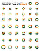 Flower, star shaped business icons — 图库矢量图片