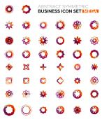 Flower, star shaped business icons — Stockvector