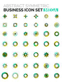 Flower, star shaped business icons — Stock Vector