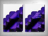 Ulotki, broszury projektowanie szablonów, układy — Wektor stockowy