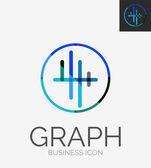 Logo design linea minimale — Vettoriale Stock