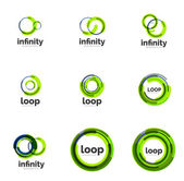 Loop, infinity business icon set — Vetorial Stock