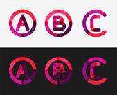 Jeu de ligne minimale conception logo — Vecteur