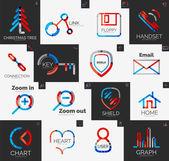 Abstract company logo vector collection — Vector de stock