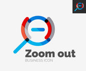 Minimal line design logo, zoom icon — Stock Vector