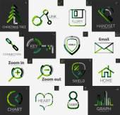 Abstract company logo vector collection — Vecteur