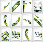 Flyers, Brochure Design Templates set, Layouts — Stock Vector