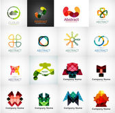 Abstract company logo collection — Stock Vector