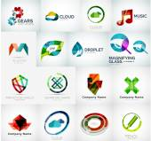 Abstract company logo collection — Cтоковый вектор