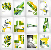 Geometric abstract business template — Stock Vector