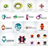 Abstract company logo vector collection — Stock Vector
