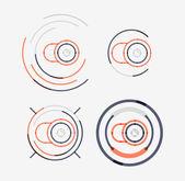 Thin line neat design logo set, camera concept — Stock Vector