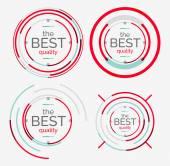 Thin line neat design logo set, premium quality — Stock Vector