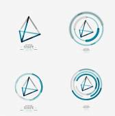 Pyramid shape line design — Vector de stock