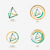 Pyramid shape line design — Vecteur