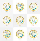 Minimal thin line design web icon set — Stock Vector