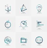 Minimal thin line design web icon set — Vetorial Stock
