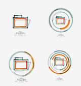 Folder logo, stamp. Accounting binder — Stock Vector
