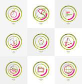 Minimal thin line design web icon set — Vecteur
