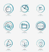 Minimal thin line design web icon set — Stock Vector