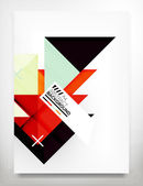 Folder, brochure ontwerpsjabloon — Stockvector