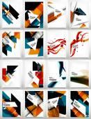 Flyers, Brochure Design Template Set — Stock Vector