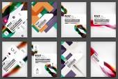 Set of Flyer Templates, Business Web Layouts — Stockvektor