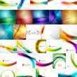 Set of Vector Abstract Backgrounds — Stock Vector #57431641