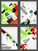 Set of Flyer Templates, Business Web Layouts — ストックベクタ