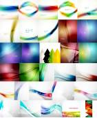 Set of Vector Abstract Backgrounds — Stock Vector