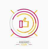 Thumb up icon, logo design — Stock Vector