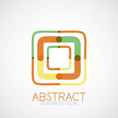 Symmetric abstract geometric shape — Stock Vector