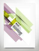 Aviador, plantilla de diseño folleto — Vector de stock