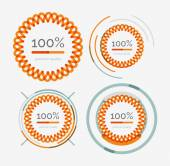 Thin line neat logos, premium quality stamp set — Stock Vector