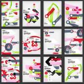 компания летчиков, шаблонов дизайна брошюры — Cтоковый вектор