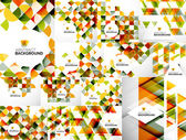 Set of Abstract Geometric Flyer Templates — Vettoriale Stock